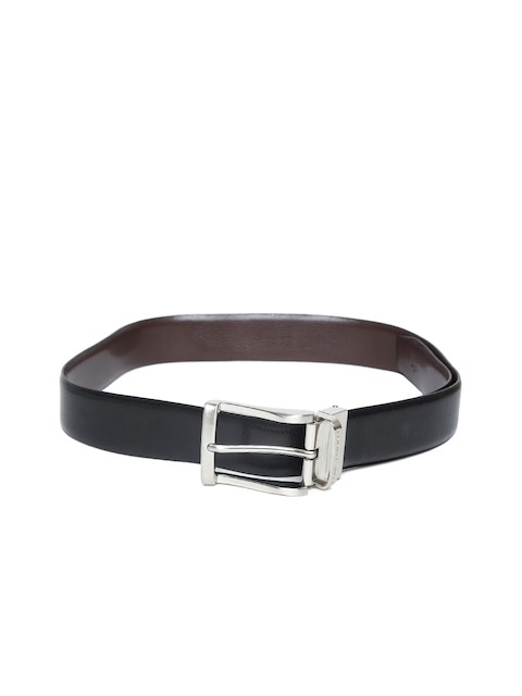 Louis Philippe Men Black & Brown Leather Reversible Belt