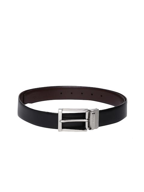 Louis Philippe Men Black & Brown Reversible Leather Belt