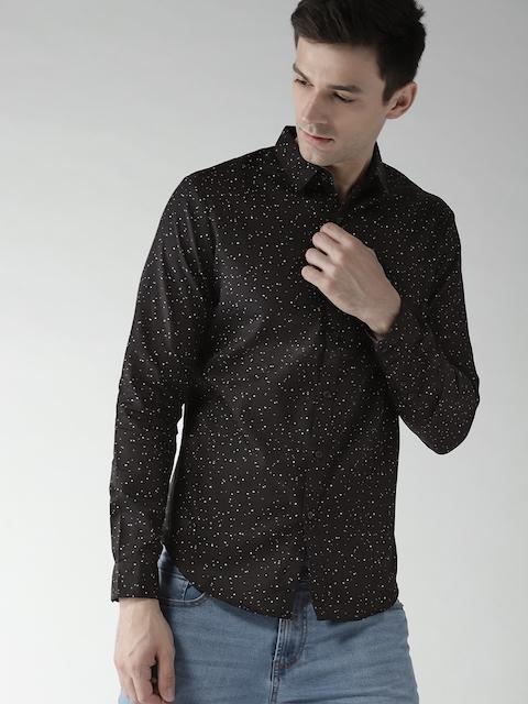 Levis Men Black Regular Fit Printed Casual Shirt