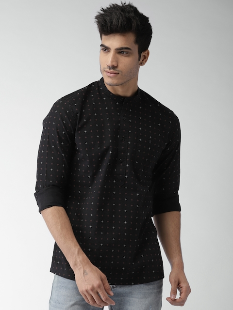 Levis Men Black Slim Fit Printed Casual Shirt