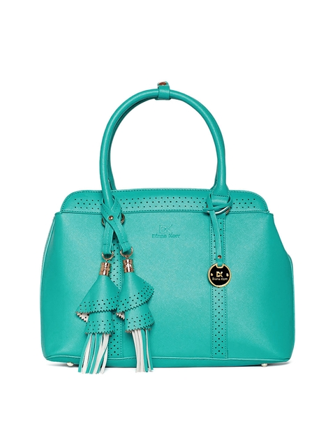 Diana Korr Sea Green Solid Handheld Bag