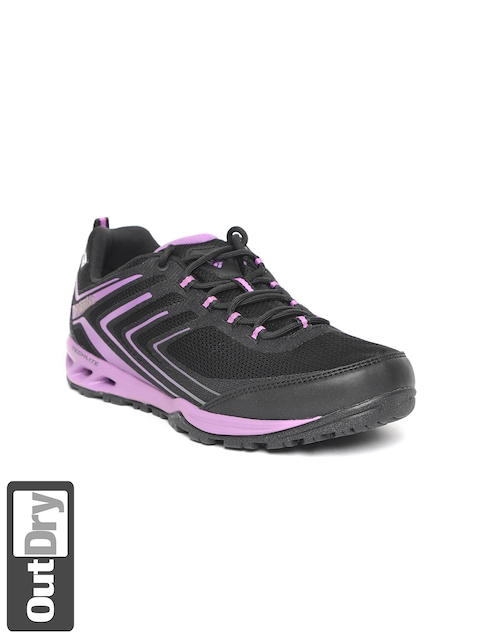 Columbia Women Black & Purple Ventrailia Razor 2 Outdry Hiking Shoes