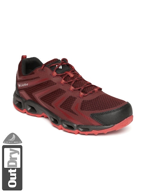 Columbia Men Maroon VENTRAILIA 3 Low OUTDRY Running Shoes