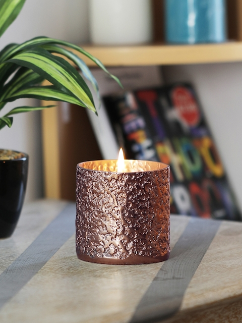 HOME DECOR INDIA Rose Gold-Toned Candle