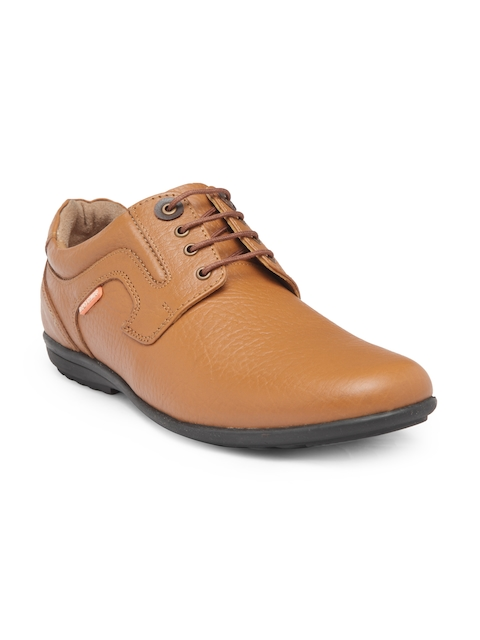 Red Chief Men Tan Brown Leather Semiformal Derbys