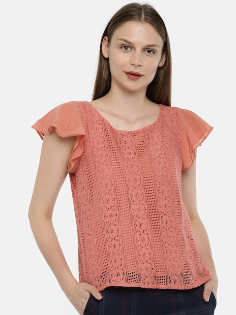 Arrow Woman Women Pink Printed Top