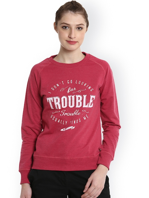 Harry Potter by Free Authority Women Red Printed Sweatshirt