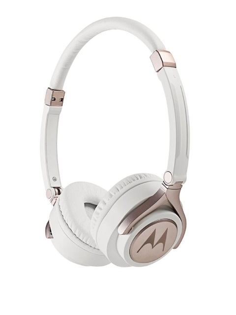 Motorola White & Rose-Gold Pulse 2 Wired Headphone with Mic