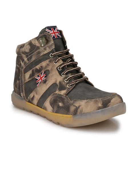 Eego Italy Men Grey Flat Boots