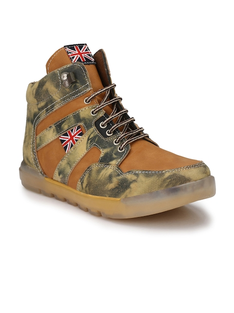 Eego Italy Men Tan Flat Boots