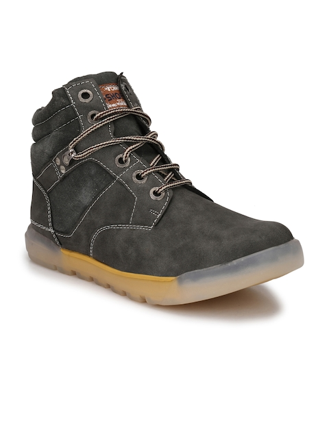 Eego Italy Men Grey Flat Boots