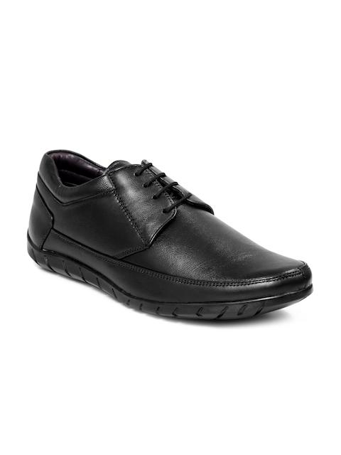 bacca bucci Men Black Leather Formal Shoes