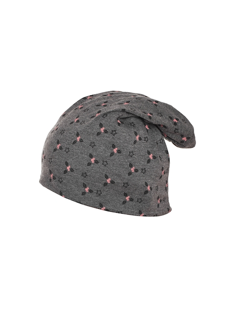 VIMAL Women Grey Printed Beanie