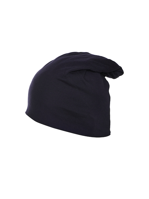 VIMAL Women Navy Blue Solid Beanie