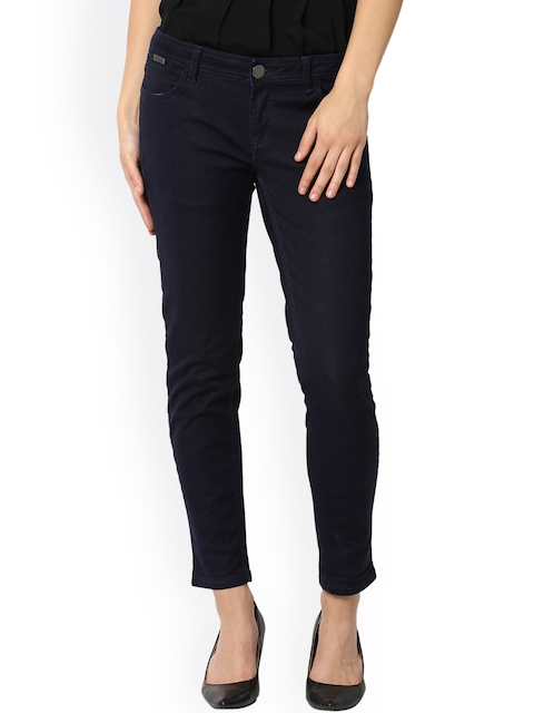 Van Heusen Woman Blue Regular Fit Mid-Rise Clean Look Jeans