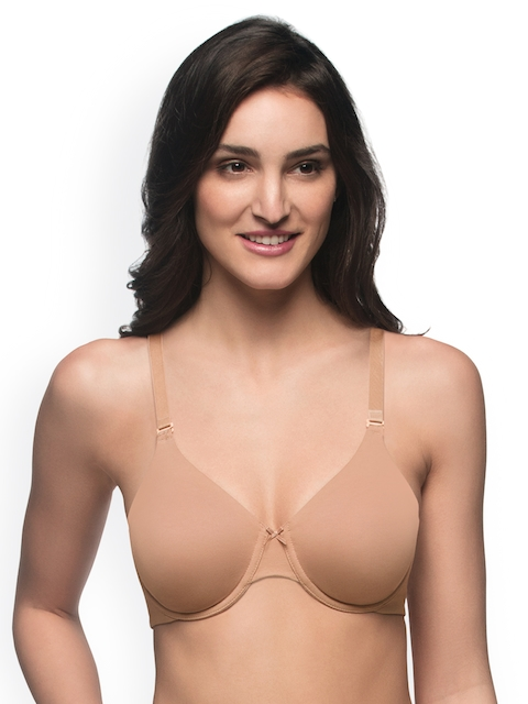 Amante Nude-Coloured Solid Underwired Non Padded T-shirt Bra BRA10432