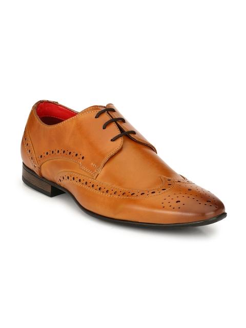Alberto Torresi Men Tan Derby Formal Shoes