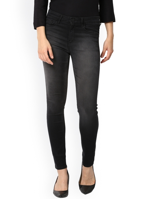 Van Heusen Woman Charcoal Regular Fit Mid-Rise Clean Look Jeans