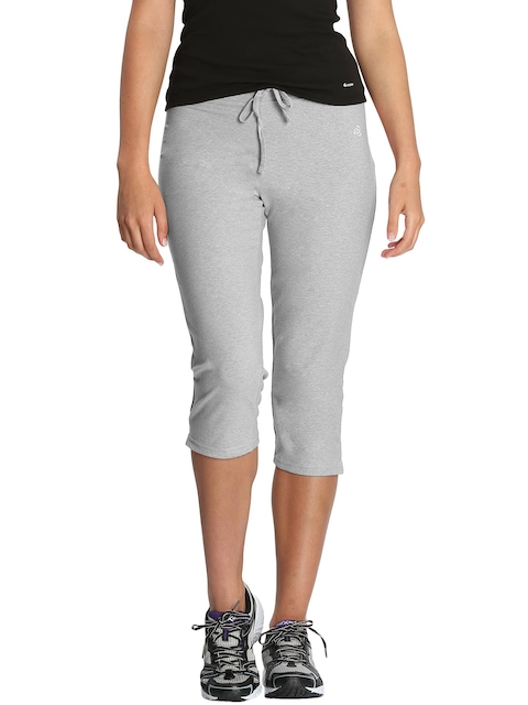Jockey Women Grey Melange Knit Capris 1300