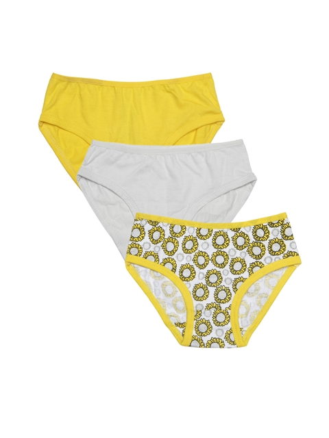 Claesens Holland Girls Pack of 3 Assorted Basic Briefs CL610