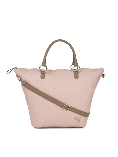 Baggit Pink Solid Handheld Bag