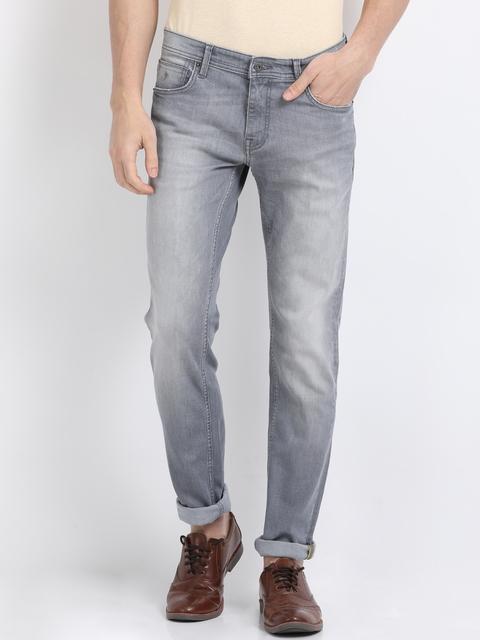 Indian Terrain Men Grey Slim Fit Jeans