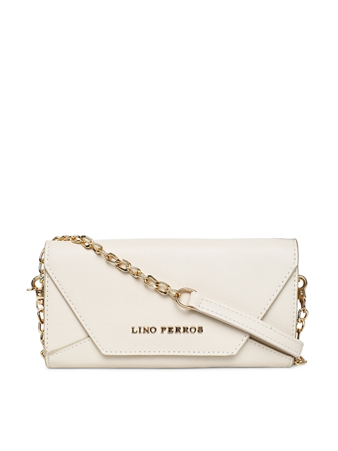 Lisa Haydon for Lino Perros Women Beige Solid Two Fold Wallet