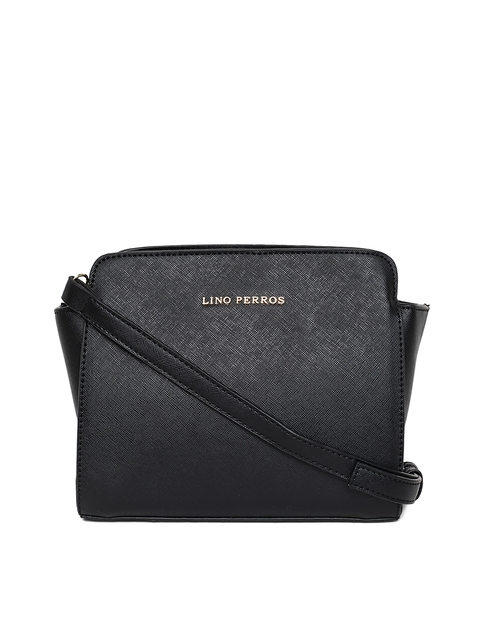Lisa Haydon for Lino Perros Black Solid Sling Bag