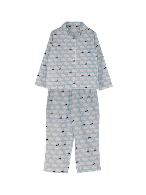 My Little Lambs Boys Blue Printed Night Suit