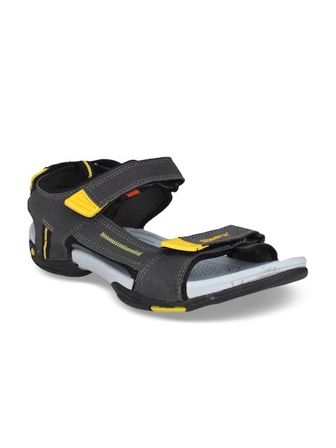 Sparx Men Grey & Yellow Comfort Sandals