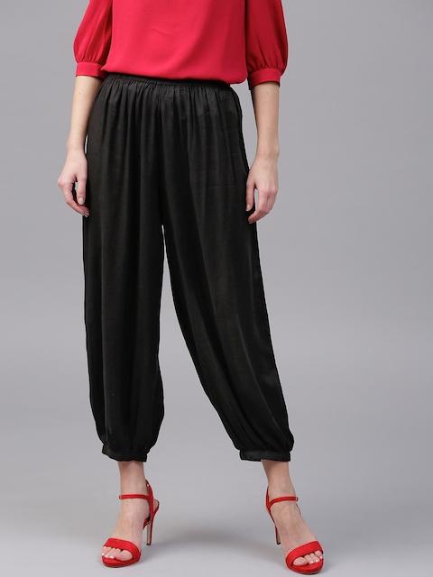SASSAFRAS Black Harem Pants