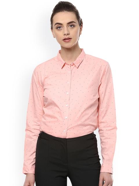 Allen Solly Woman Women Pink Regular Fit Printed Formal Shirt