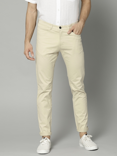French Connection Men Beige Regular Fit Solid Chinos