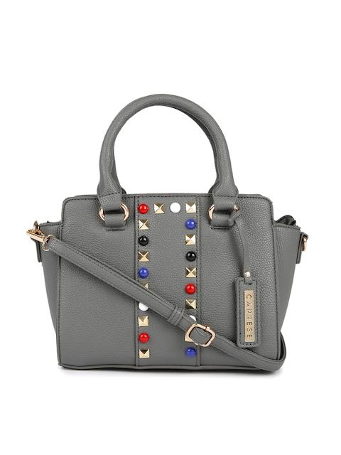 Caprese Grey Embellished Handheld Bag