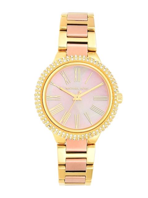 Michael Kors Women Rose Gold & Gold-Toned Analogue Watch