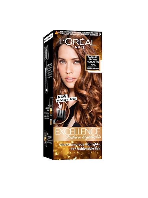 Loreal Excellence Fashion Highlights Caramel Brown Hair Color
