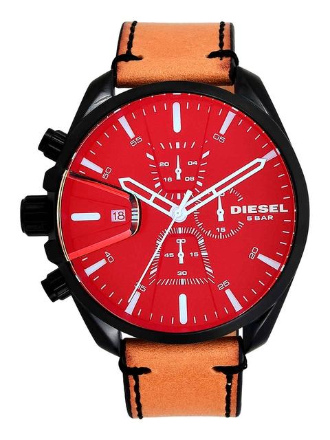 DIESEL Men Red & Brown Chronograph Watch DZ4471I