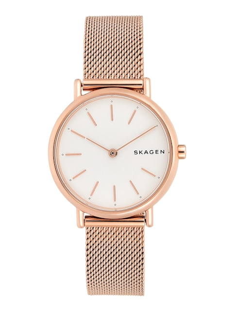 SKAGEN Women White & Rose Gold Analogue Watch SKW2694I