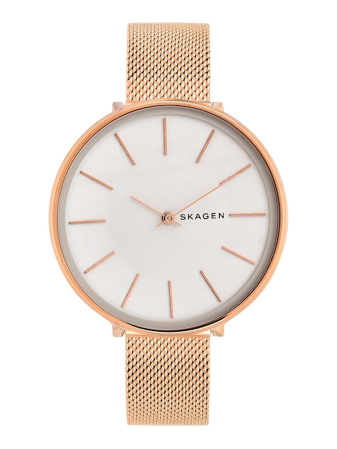 SKAGEN Women White & Gold-Toned Analogue Watch SKW2688I