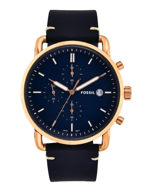 Fossil Men Navy Blue Analogue Watch FS5404I