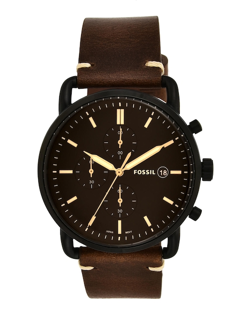 Fossil Men Coffee Brown & Black Analogue Watch FS5403I