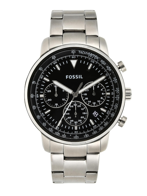 Fossil Men Black & Silver-Toned Analogue Watch FS5412I