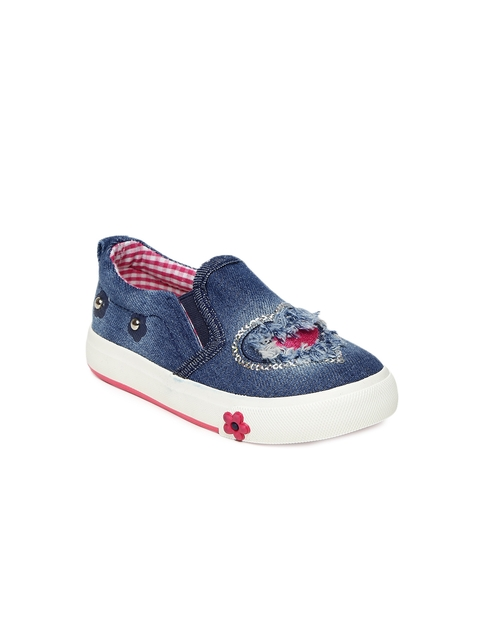 Walktrendy Girls Navy Blue Sneakers