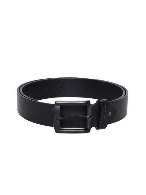 Roadster Men Black Leather Belt
