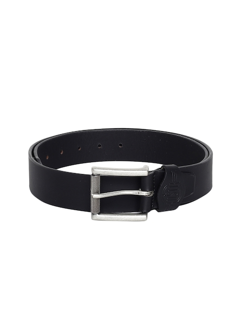 Roadster Men Black Leather Belt
