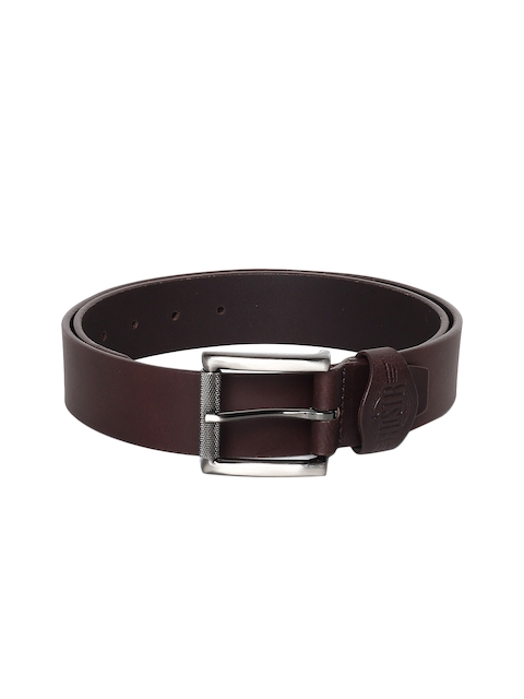 Roadster Men Coffee Brown Solid Belt