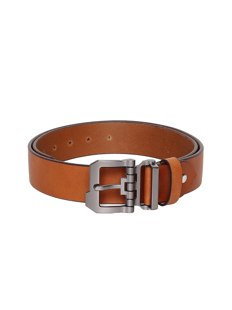 Roadster Men Tan Brown Leather Belt