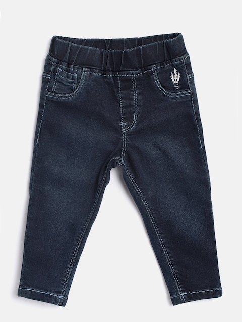 Palm Tree Girls Navy Blue Lightly Washed Jeggings