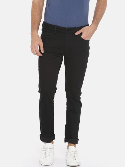 Arrow Blue Jean Co. Men Black James Slim Fit Mid-Rise Clean Look Stretchable Jeans