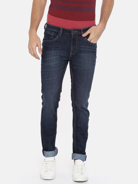 Arrow Blue Jean Co. Men Blue Slim Fit Mid-Rise Clean Look Jeans